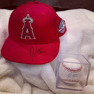 LA Angels Autographed Ball and Hat